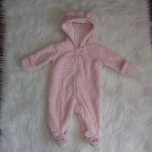 New Infant Girl's Fuzzy Suit